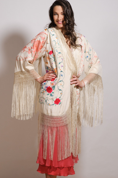 661_coral_and_multi_fringe_piano_shawl_jacket_with_coral_2_tier_bias_slip_dress