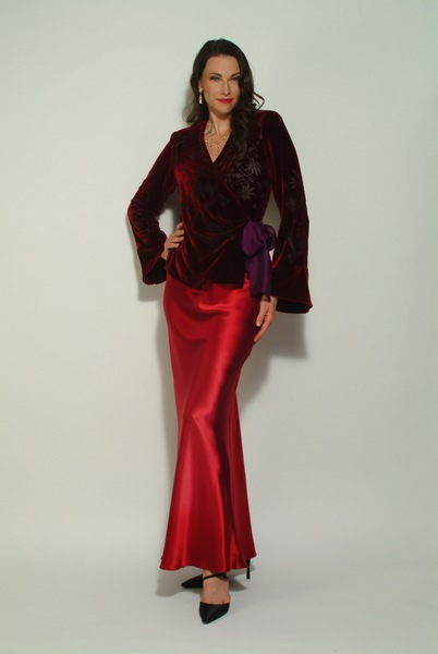 664_velvet_wrap_jacket_and_bias_flared_skirt